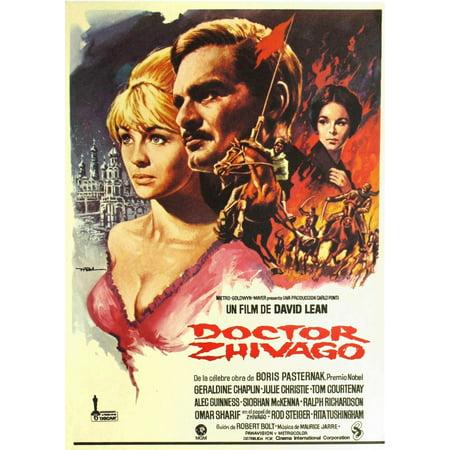 Doctor Zhivago L-R Julie Christie Omar Sharif Geraldine Chaplin On Spanish Poster Art 1965 Movie Poster Masterprint