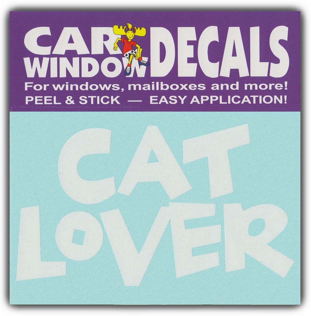 Love Couple Cat Sticker Car Auto Motorcycle Window Door Decal Decor JA
