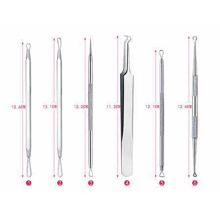 Peralng Blackhead Remover Pimple Comedone Extractor Pore Cleaner Tool Good Acne Removal Kit - Treatment for Blemish, Whitehead Popping, Zit Removing for Risk Free Nose Face Skin with Leather