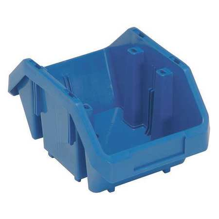 - Quantum Storage Systems 75 Lb Capacity, Cross-Stacking Bin, Double Hopper, Blue QP965BL