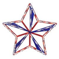 Impact 4th of July Star Window Silhouette Decoration