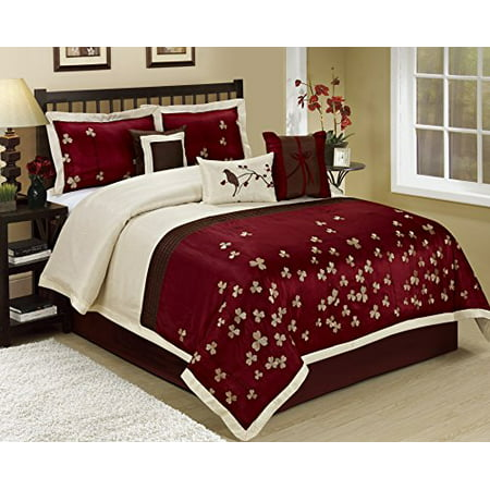 7 Piece Vienna Embroideried Clearance Bedding Comforter