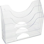 Rubbermaid 3-Pocket File Folder Organizer, Plastic, Clear