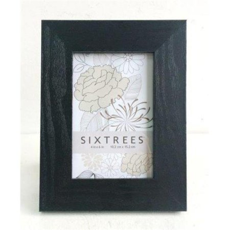 Sixtrees WD85746 4 x 6 in. Black Wood Grain Frame - image 1 of 1