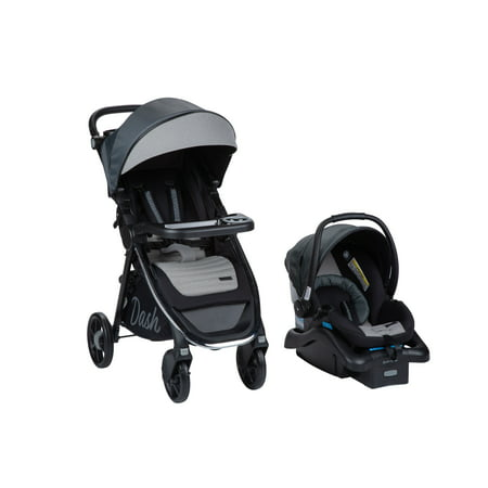 Monbebe Dash All in One Travel System, Gray and Black Pinstripe 2 Standard Suspension System