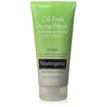 Facial Cleanser: Neutrogena Oil-Free Acne Face Wash Cream Cleanser Redness Soothing