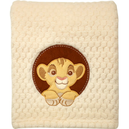 Disney Lion King Plush Popcorn Applique Blanket - Baby Lion King