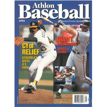 Athlon Ctbl S13241 Barry Bonds   Will Clark Unsigned San Francisco Giants Sports 1993 Mlb Baseball Preview Magazine With Eckersley