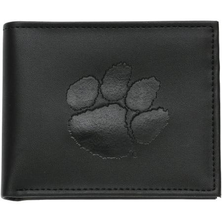 Tigers College Womens Wallet - Clemson Tigers Hybrid Bi-Fold Wallet - Black - No Size