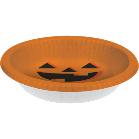 Creative Converting Halloween Pumpkin 20 Oz. Paper Bowl, 8 ct (20 Off Halloween City)