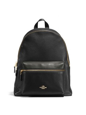 ec362a19b360 Product Image NEW WOMEN S COACH (F38288 F29004) BLACK CHARLIE PEBBLE  LEATHER BACKPACK BAG