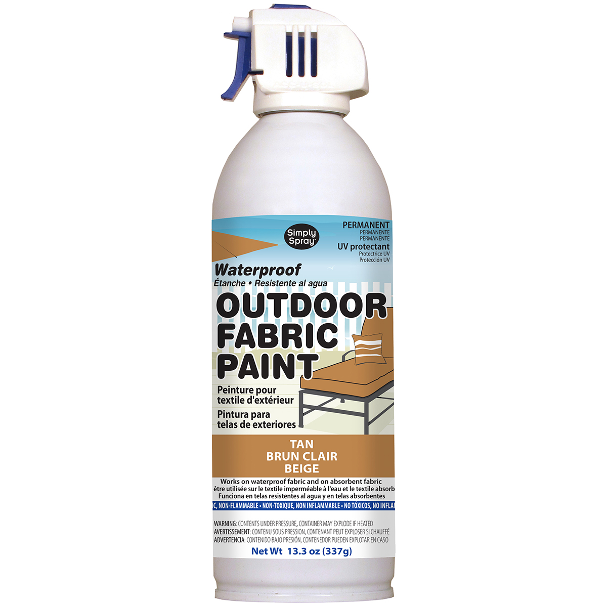 Outdoor Spray Fabric Paint 13.3oz-Tan