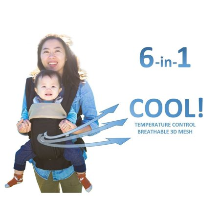 91e655a7ce8 360 Ergonomic Baby Carrier - All Season Baby Sling - 6 Position ...