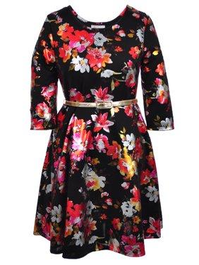 7587d3d2b32 Product Image Bonnie Jean Girls  Belted Plus Size Dress