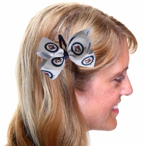Winnipeg Jets Women's Team Logo Hair Bow - No Size