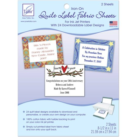 quilt label fabric sheets