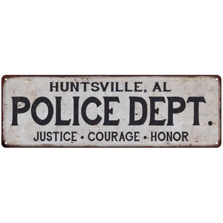 Halloween Store Huntsville Al (HUNTSVILLE, AL POLICE DEPT. Home Decor Metal Sign Gift 6x18)