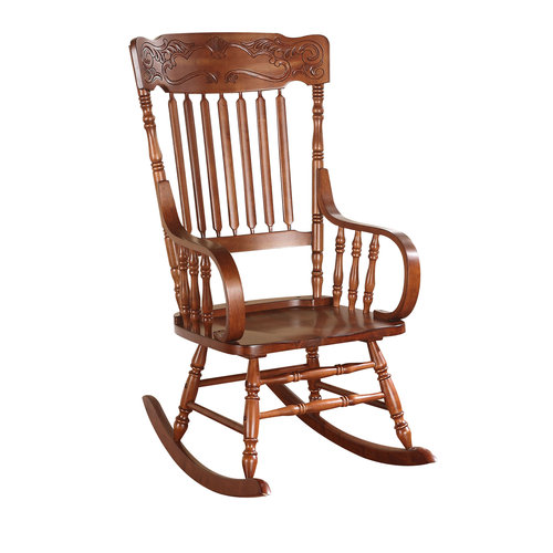 ACME Khloe Rocking Chair, Tobacco by Acme Furniture
