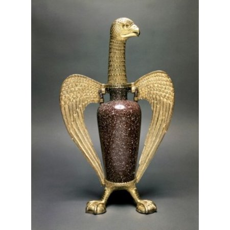 Eagle-Shaped Vase known as Sugers Eagle  from the  Treasure of St Denis Antiques   Musee du Louvre Paris Canvas Art -  (24 x 36)