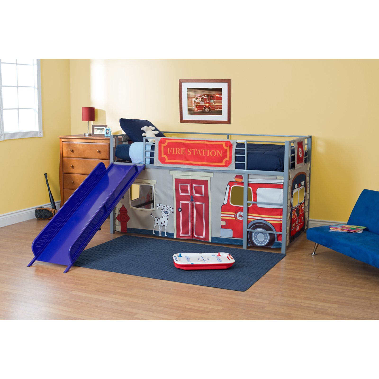 Fire Department Junior Fantasy Loft with Slide - Silver