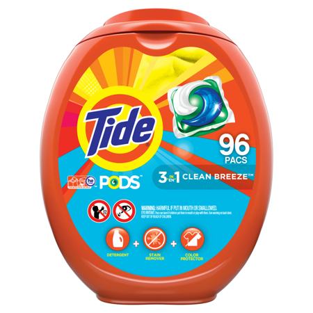 Tide Pods Clean Breeze, Laundry Detergent Pacs, 96 (Best Smelling Laundry Detergent For Guys)
