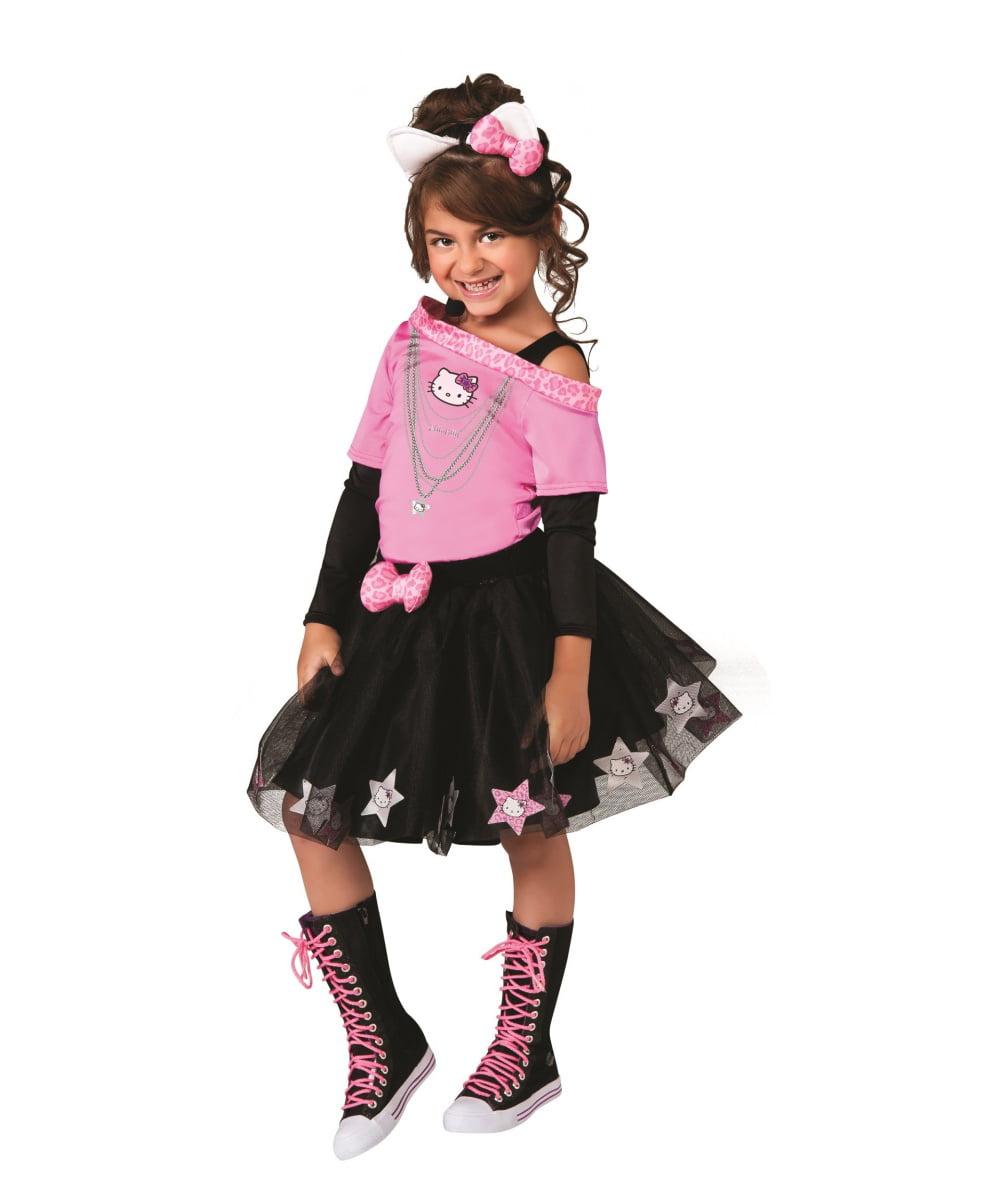 Hello Kitty Rock Star Girls Costume Walmartcom