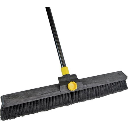 Quickie 00633 Soft Sweep Push Broom, Polypropylene Fiber Bristle, Resin Block, 15/16 in Dia x 60 in