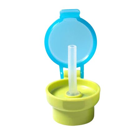 Baby Straw Lid Portable Converts to Bottle Snap Cap Infant Spill-proof Straw with Cap for Toddles