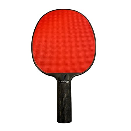 Cannon Sports Red Rubber Face Unbreakable Table Tennis Paddle