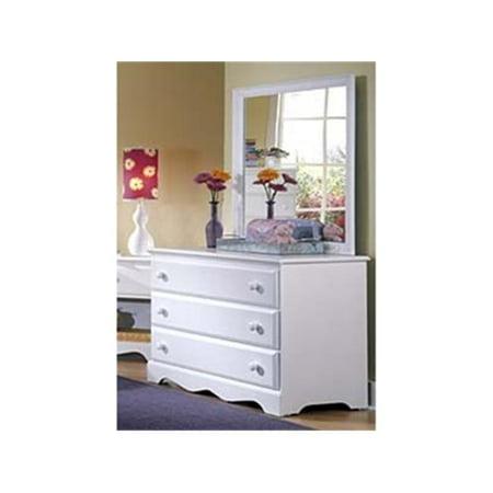 Caroline Mirror (Carolina Furniture Works 416400 Mirror - Landscape 30 x 34 - White)
