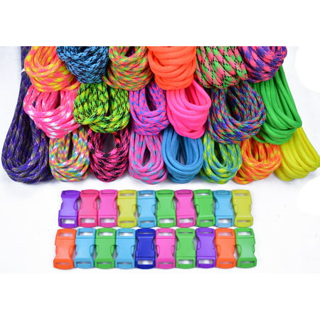 Xr50 Big Bore (Bored Paracord Brand Paracord Starter Kit - Big Neon Combo)