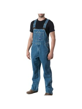 Big Men's 100% Cotton Stonewashed Denim Bib Overall