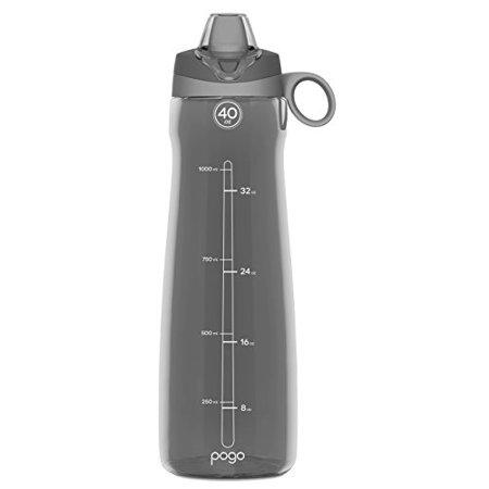 90275746a2 Pogo BPA-Free Tritan Water Bottle with Soft Straw, Grey, 40 oz. -  Walmart.com