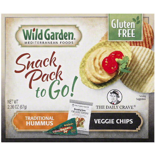 Wild Garden Traditional Hummus & Veggie Chips Snack Pack, 2.36 oz, (Pack of 30)