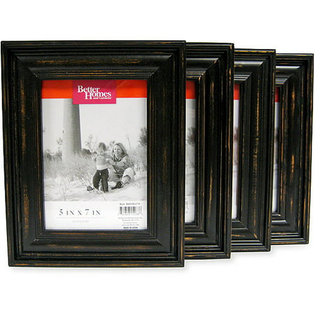 better homes and gardens distressed black wood 5x7 picture frames