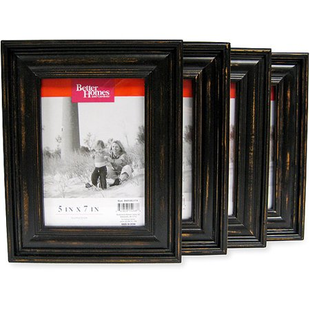 Better Homes and Gardens Distressed Black Wood 5
