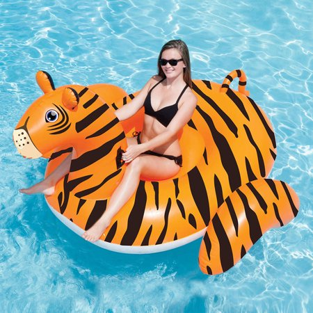 Swimline Vinyl Giant Tiger Pool Float, Black