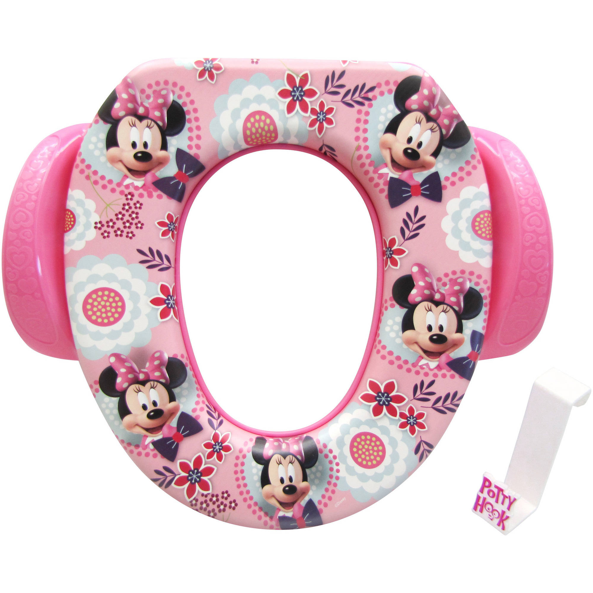 """Disney Minnie Mouse """"Simply Adorable"""" Soft Potty Seat with Hook"""