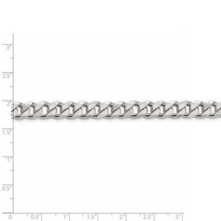 925 Sterling Silver 8mm Curb Chain Bracelet - image 2 de 4