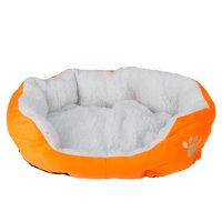 Pet Beds for Small Dogs, Brown Warm Waterloo Bed Nest with Pad Pet Bed Mat for Puppy Cat, WRWQ277OGS01 Soft Cotton Leopard Print Pet Dog Bed for Indoor /Outdoor