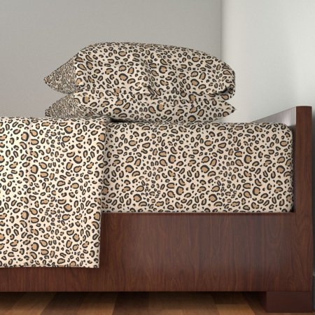 Animal Print Animal Print Leopard 100% Cotton Sateen Sheet Set by Roostery