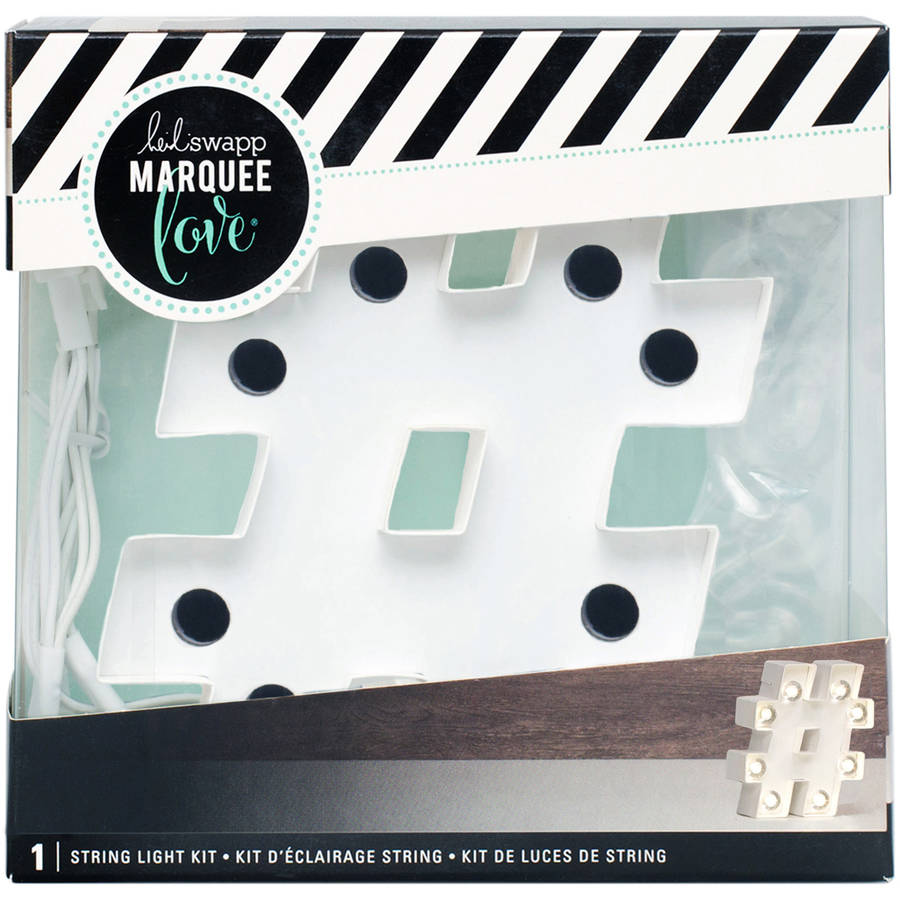 """Heidi Swapp Marquee Love Letters, Symbols & Shapes, 4"""""""