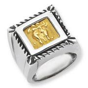 Phillip Gavriel 18k Gold & Sterling Silver Greco-roman Venetian Cameo Ring, Size 6