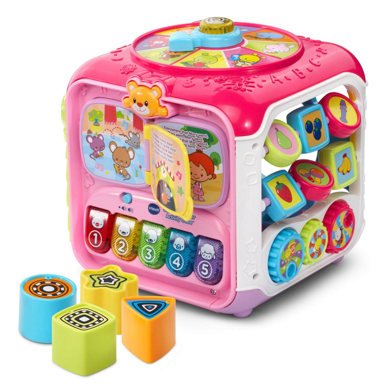 VTech Sort and Discover Activity Cube Pink Free Shipping