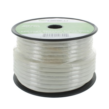 12 Gauge In Wall Speaker Wire, GearIT 100 ft 12AWG CL2 Rated 2-Conductor Speaker Wires for In-Wall Installation High Quality, White
