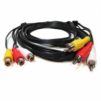 3 rca male to 3 rca female audio video extension cable (15 ft)