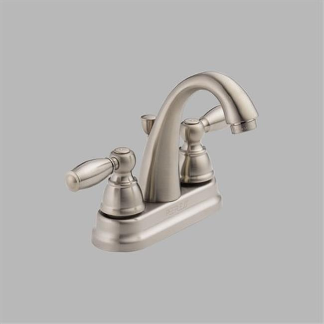 Delta P299696LF-BN Apex 4 in. 2-Handle High Arc Bathroom Faucet in Brushed Nickel