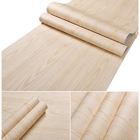 Glow4u Self Adhesive Light Oak Wood Grain Contact Paper Shelf Drawer Liner For Kitchen Cabinets Shelves Cupboards Table A