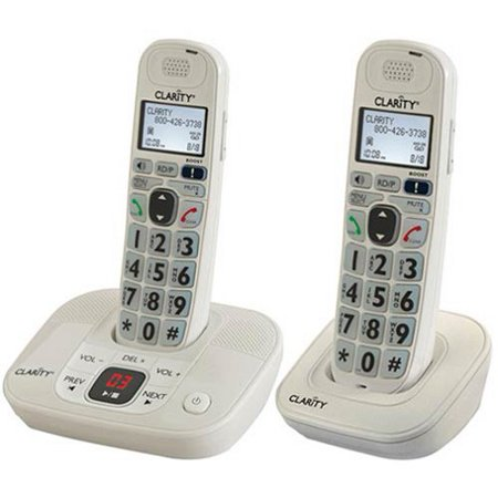Clarity Amplified Phone - Clarity D714 Amplified Cordless Phone with (1) D704HS Expwithable Hwithset