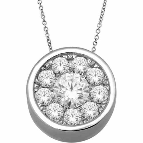 Imperial 1/4 Carat T.W. Diamond 10kt White Gold Round-Shape Pendant